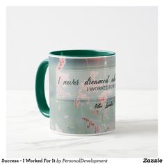 Sip from one of our many Inspirational Quotes coffee mugs, travel mugs and tea cups offered on Zazzle. Clear Your Mind, Successful People, Law Of Attraction, Your Space, Favorite Color, Coffee Mugs, Mindfulness, Monogram, Organization