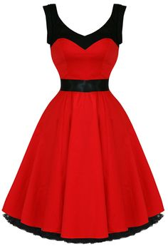 Hearts AND Roses RED Rizzo Prom Formal PIN UP Rockabilly Retro Dress 50s | eBay - absolutely want this for my bridesmaid... Shame we dont have a date! :(