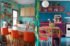 cozinhas coloridas - Pesquisa Google