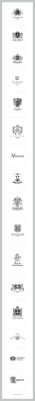 Logos in heraldic style №2 on Behance