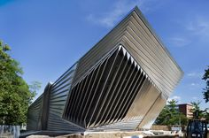 The Broad Art Museum at Michigan State University in East Lansing is an incredible contemporary museum designed by famed architect Zaha Hadid.