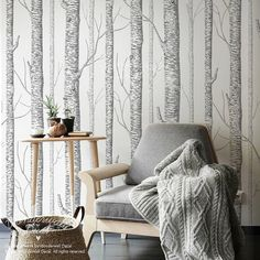 Hey, I found this really awesome Etsy listing at https://www.etsy.com/listing/206956139/birch-tree-peel-stick-wallpaper-wall
