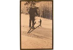 Vintage Skiing Poster on OneKingsLane.com