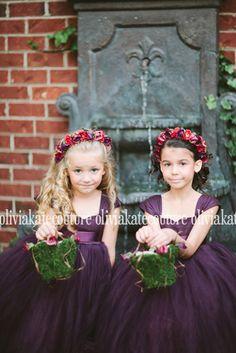 Plum Flower Girl Dress 6 7 8 by OliviaKateCouture on Etsy, $155.00