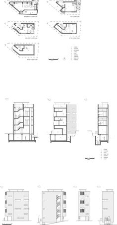 Micro Housing K, Seoul : Architects - 건축사사무소 Micro House, Tiny House, Apartment Design, Exterior Design, Seoul, Interior Architecture, Floor Plans, How To Plan, Building