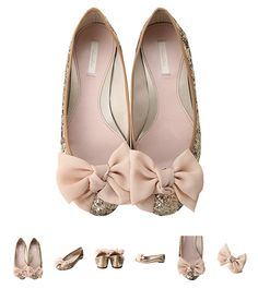 flats #wedding shoes, if these were in white they'd be perfect!