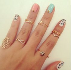 Little rings.... I love the ones one the upper part of the pointer finger!