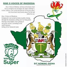 Rise O Voices Of Rhodesia - National Anthem Zimbabwe History, Lest We Forget, My Roots, All Nature, Military Art, The Good Old Days, Coat Of Arms, In A Heartbeat, South Africa