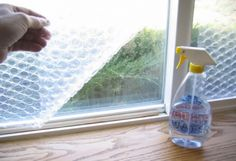 Brrrr it's chilly outside! Use bubble wrap to help keep your house warm and heating bills down.