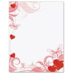 Hearts Desire Letter Paper | Idea Art Valentine Background, Paper Background, Stationary Printable, Boarders And Frames, Computer Paper, Borders For Paper, Wedding Scrapbook, Writing Paper, Flower Frame