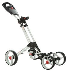 Dunlop 4 Wheel Golf Trolley (white frame) | Golf Trolley | Online-Shop