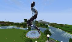 Fountain I made on my towny plot in tekkit!