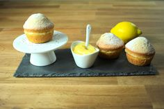 Mini Lemon and Poppy Seed Cakes Recipe - Globe Scoffers Summer Cake Recipes, Summer Cakes, Cupcake Recipes, My Recipes, Cupcake Cakes, Dessert Recipes, Cooking Recipes, Desserts, Cup Cakes
