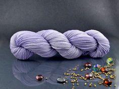 Violets - Hand Dyed Yarn, Merino Superwash in Lilac, Hand Dyed Fingering Yarn by AspenYarnDyeing on Etsy