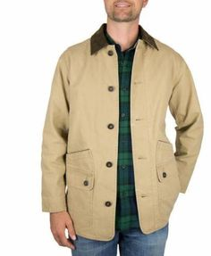 31c5c2a5e7f329 Orvis Barn Jacket Beige Tan New Mens Size Coat 214849 Cotton Canvas Lined