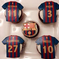 Red velvet fc barcelona cupcakes