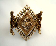 Rare Vintage Gold Filigree Bracelet Collectibles by JewelrybyIshi