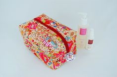 Party Town Ripstop Large Wash Box Bag  Wipe-able by LottieDeanBags