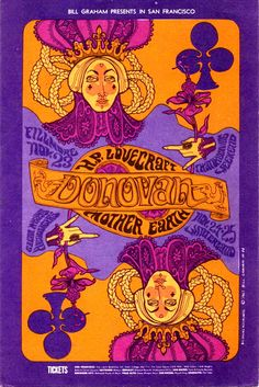 Donovan/H.P. Lovecraft/Mother Earth, November 23, 1967 Fillmore Auditorium - San Francisco November 24 & 25, 1967 Winterland - San Francisco