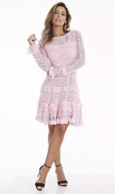 Fabianne Castilho: Vestido Scottini  em crochê