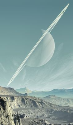 Saturn As Seen From One of It's Moons. ᴷᴬ Saturno visto desde una de sus… - Space and Astronomy Cosmos, Space Planets, Space And Astronomy, Space Saturn, Planets Wallpaper, Galaxy Wallpaper, Galaxy Space, Galaxy Art, Fantasy Landscape