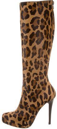 Christian Louboutin Alta Fifre Ponyhair Mid-Calf Boots