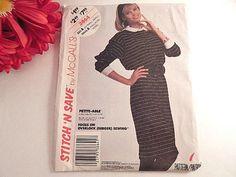 Women's Dress Sewing Pattern Uncut McCalls Easy by TKSPRINGTHINGS