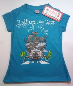 Rolling in the Deep (Girl) Music inspired t-shirt!