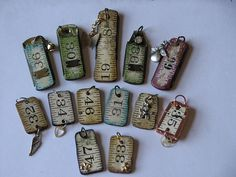Ruler Charms Tutorial - http://inkstainswithroni.blogspot.com/2011/07/vintage-wood-ruler-charms.html