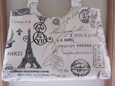 French Stamps  Handbag Purse Ipad Netbook by Antiquebasketlady, $41.00