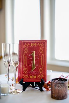 Vintage book table number | Carley Rehberg Photography on @tidewatertulle via @aislesociety