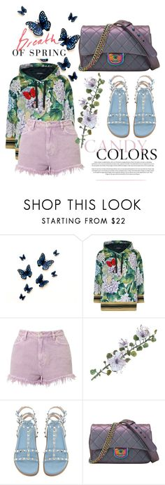 """""""winter to spring"""" by justeeeiiinnne ❤ liked on Polyvore featuring Dolce&Gabbana, Miss Selfridge, Serfontaine and Chanel"""