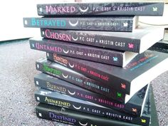 House of Night series by P. C. Cast and Kristin Cast. Great for young adults