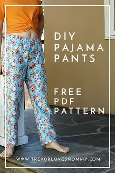 Most current Snap Shots sewing pants pattern Ideas Pajama Pants Pattern, Pants Pattern Free, Sewing Pants, Sewing Clothes, Barbie Clothes, Dress Sewing Patterns, Sewing Patterns Free, Shirt Patterns, Free Sewing