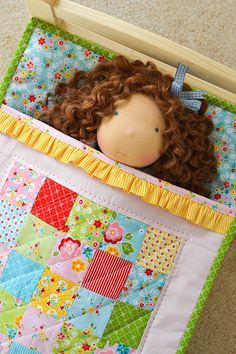Down Grapevine Lane: Ruffle Doll Quilt in 'Bloom & Bliss'