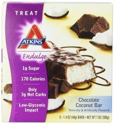 Atkins Endulge Chocolate Coconut - 5 Bars - http://atkins.protein-energy-shakes.com/snack-foods/atkins-endulge-chocolate-coconut-5-bars/