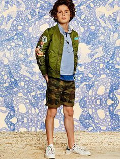 Discover the latest trends in fashion inside the Scotch & Soda online shop Little Boy Fashion, Fashion Kids, Boys Clothing Stores, Boy Clothing, Scotch Shrunk, Summer Boy, Summer 2016, Kids Wear, Children Wear