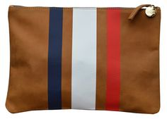 Clare Vivier striped clutch