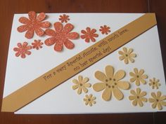 Two-tone flowers and simple message