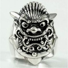 Rings :: Gothic Rings :: Mens ring Japanese Mask Ring - Shopping Cart Software Ecommerce Software Solutions by CS-Cart Silver Skull Ring, Mens Silver Rings, Silver Man, Skull Rings, Mens Rings For Sale, Rings For Men, Bishop Ring, Japanese Mask, Gothic Rings