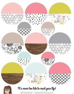 The Reset Girl's Graceful Pattern Colorblocked Layering Circles