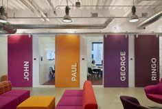 A bold, graphic way to identify conference rooms. STUDIOS Architecture : Pandora