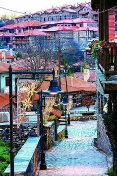 Agios Athanasios, a village in the Pella regional unit of Macedonia Macedonia Greece, Republic Of Macedonia, Places In Greece, Greek Isles, Thessaloniki, Paros, Oh The Places You'll Go, Athens, Countryside