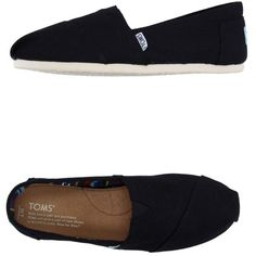 Toms Sneakers ($80) ❤ liked on Polyvore featuring shoes, sneakers, black, toms footwear, black rubber sole shoes, kohl shoes, toms shoes and black trainers