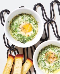 Baked Eggs With Parmesan and Herbs | RealSimple.com