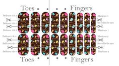 Just a reminder of what you get in one sheet of wraps... 2 manicures 2 pedicures and some accent sheets. Heres an extra trick that I recently discovered you can actually get 3 nails out of each of the smaller wraps!! THIS DESIGN HAS RETIRED #whatsinawrap #3in1 #mommybusiness #naillover #treatyournails #jamberry #jamberryuk #jamberrybyelisetaylor