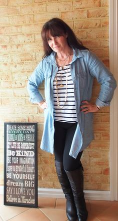 Today I Wore || Denim and Stripes