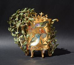 """Knight of the Forest"" vase by Irina S. Zaytceva, 2015"