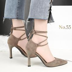 f20d3cf477b HENGSCARYING Women Summer Gladiator 8cm High Heels Buckle Strappy Tie Heels  Sandals Lady Flock Pumps Female Footwear Sandals-Touchy  Style-Red-6-TouchyStyle