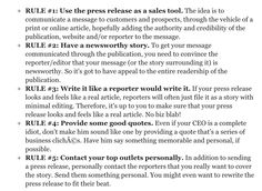 how to write a press release template